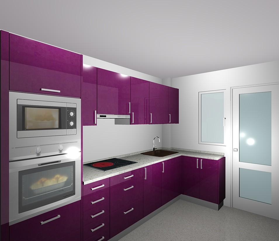 Muebles de cocina ibiza eivicuines eva palerm for Cocinas color berenjena