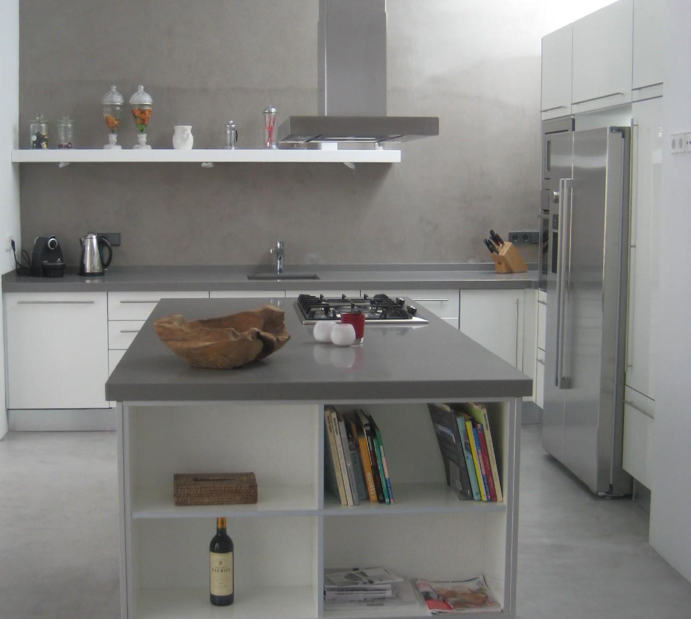 Cocina eivicuines acrilux blanco brillo eivicuines eva - Cocinas blancas y gris ...